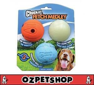 Chuckit Chuck It Fetch Medley Balls - 3 pack