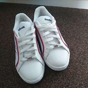 Reebok Kids Unisex Classic Trainers Retro Shoes UK 2.5 - EXCELLENT CONDITION