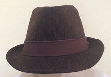 STETSON SALE * MEN BROWN FEDORA HAT * NEW WOOL BLEND DRESS LINED GOLF SUN PIMP