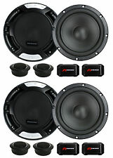 """4 New Renegade RX6.2C 6.5"""" 400W 2 Way Car Component Audio Speakers System Stereo"""