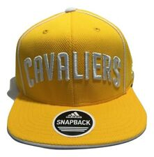 Adidas Cleveland Cavaliers Hats, Men's, Flatbrim, Snapback Cap, Yellow
