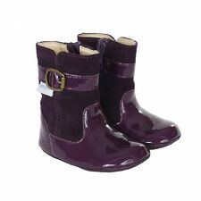 NIB Robeez Shoes Mini Shoez Booties Boots Taylor Purple Patent Leather 3-6m 2