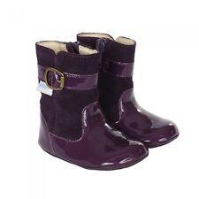 NIB Robeez Shoes Mini Shoez Booties Boots Taylor Purple Patent Leather 3-6m 2