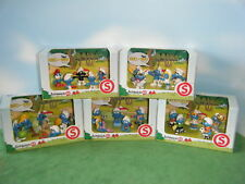 5 SMURF DECADE PACKS 1960s 1970s 1980s 1990s & 2000s LOT OF 25 FIGURES *NEW*