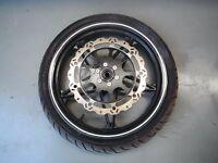 Front wheel rim with tyre & disc  MEGELLI 250R SCJ 250 250S 2012 12 GET IT FAST!