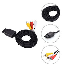 For SNES Super Nintendo 64 N64 Game Cube 6FT Stereo AV TV Video Cord Wire Cable