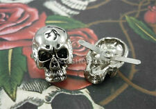 5pcs SKULL Studs Spots Punk Rock Leathercraft DIY Accessories Prongs Emo S151
