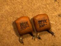 0.022uF .022 uF 50V Ceramic Disc Capacitors TDK CK45-F1H223ZYH 500 pieces
