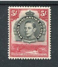 Kenya Uganda Tanganyika kgvi 1938-54 5/- Nero E CARMINIO SG148b mm
