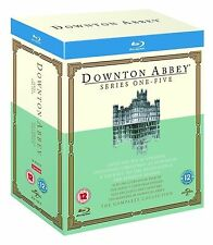 DOWNTON ABBEY ALL EPISODES SERIES 1 2 3 4 5 BLURAY BOX SET BRAND NEW  SEASON 1-5