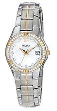 NIP Pulsar Women's PH7244 Key Necklace with Japanese Quartz Watch Set