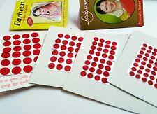 260 Bright Red Bindi Kumkum Tattoo 4Sizes Sticker Bellydance Indian Women Makeup