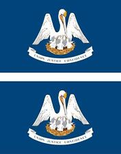 2 x Autocollant sticker voiture vinyl drapeau USA americain louisiane
