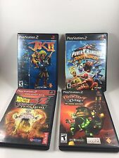 Lot Of 4 PS2 Games Ratchet & Clank, Jak 11, Power Rangers, Dragon Ball Z Budokai