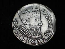 ,,3 ''  GROSCHEN    POLAND    SILVER  III GROSZY     SIGISMUND   III ,,1589 ''