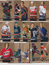 2005-06 Ultra Gold Medallion 15 Card Lot With Rookies NHL Hockey