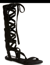 Matisse Black Suede Lace Up Gladiator Sandals Size 7  NWOT
