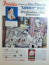 Lot of 4 Vintage Friskies Dog Food Print Ads 101 Dalmatians St Bernard