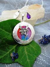 Rainbow Fairy CIONDOLO COLLANA CIONDOLO ANTICO BRONZO FANTASY WICCA FAE MAGIC