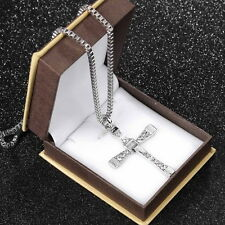 Hot The Fast and The Furious Dominic Toretto CROSS PENDANT Chain Necklace WW