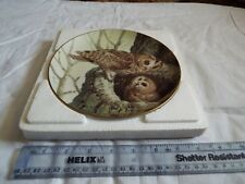 PORCELAIN PLATE COLLECTION THE FOREST YEAR OWLS