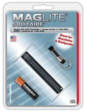 Maglite K3A016 Solitaire 1-Cell AAA Flashlight, Black