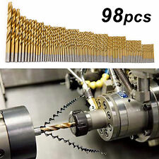 Spiralbohrer 98 tlg Set HSS Stahlbohrer Bohrer Satz Metallbohrer 1,5-10 mm