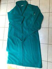 L.L. Bean Women's  Winter Fleece Long Belted Robe Emerald Teal Green Size L