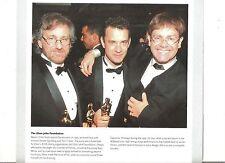 ELTON JOHN Spielberg Tom Hanks  magazine PHOTO / clipping 8x8 inches