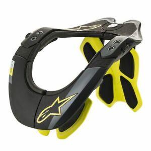 2020 Alpinestars BNS Tech 2 Black Fluro Yellow  Dirt Bike Motocross Neck Brace