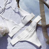Brazilian Swimwear Bathing Suit Swimsuit Bandage Bikini Set Padded Bra Triangle