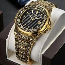 Luxury brand ONOLA quartz origin watch men gold classic Vintage wrist watch Mens