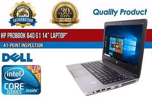 """C Grade HP ProBook 640 G1 14"""" Intel i5 8GB RAM 320GB HDD Win 10 WiFi USB Laptop"""