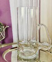 Edel Krug Glaskrug Karaffe Wasserkrug Glas Dubben Dellen kunstvoll Glaskunst
