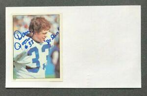 DAN DOORNINK NFL Seattle Seahawks Football Autographed Signed 3x5 Index Card