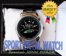 john force a champions NHRA Drag Racing men's Sport Metal Watch