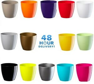 Waste Paper Basket Dust Bin Round Plastic Step Office Bathroom 2 Sizes 20 Colour