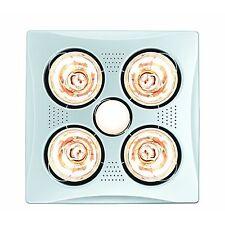 HPM 4x275W BATHROOM INSTANT HEAT 3in1 Exhaust Fan & 7W LED Light Square - WHITE