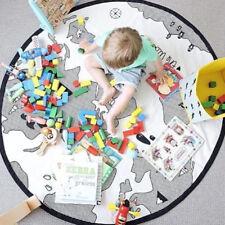 Creative World Map Baby Crawling Mat Game Play Mats Soft Cotton Kids Carpet Pads