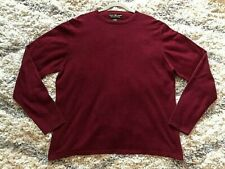 MEMBER'S MARK 100% Cashmere Crewneck Pullover Sweater Size XL Mens Maroon Red