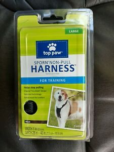 Top Paw Sporn Non-Pull Harness for Training Large Black New patented technology