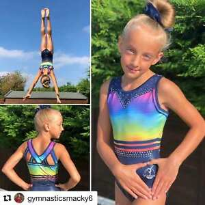 Unity Girls Rainbow Gymnastics Dance leotard