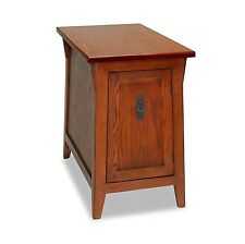 Leick Furniture 10032-RS Favorite Finds Mission Cabinet End Table-Russet