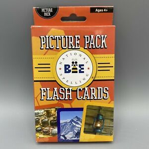 National Spelling Bee Picture Pack Flash Cards 35 Cards Ages 4+ New