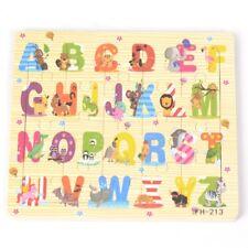 20pcs Wooden Puzzles Jigsaw Toddler Kids Child Educational Toys ABC Alphabet
