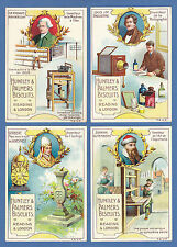 HUNTLEY & PALMERS - VERY RARE SET OF XL 8 CARDS  -  INVENTORS  -  1900