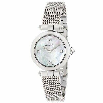 GUCCI YA141504 Diamantissima Ladies Sapphire Crystal Chrono Watch + Gift Bag