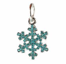 European 925 Silver Snowflake CZ Charm Beads Fit sterling Necklace Bracelet A#88