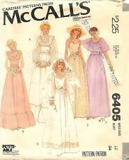 Vintage 1978 McCall's # 6405 Sewing Pattern: Misses' Bridal Dress Size 12