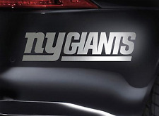 "New York Giants 10"" CHROME Decal Vinyl Truck Car Window STICKER"